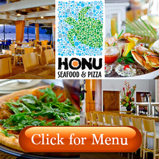 Honu Seafood & Pizza Menu