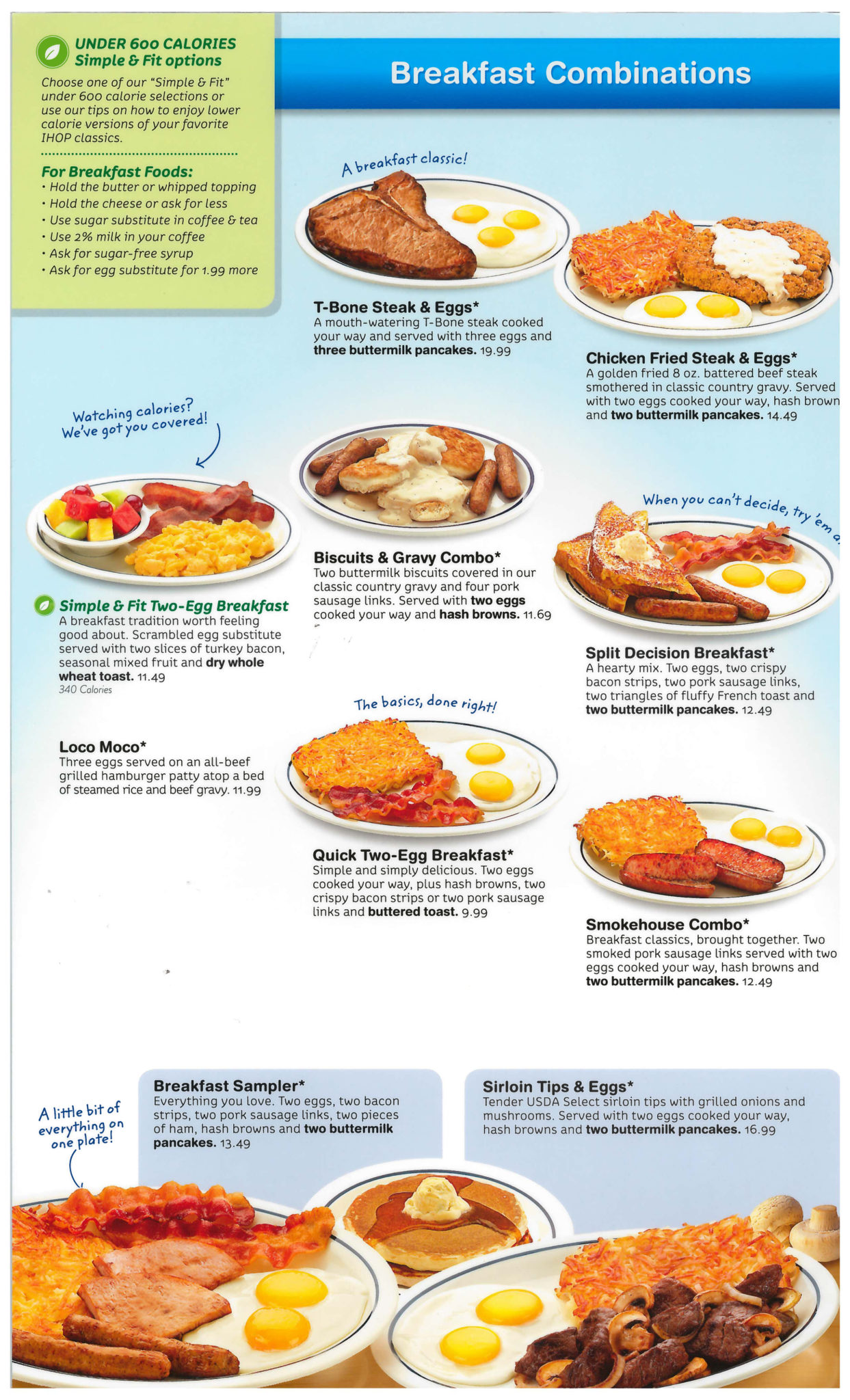 Ihop Restaurant Menu