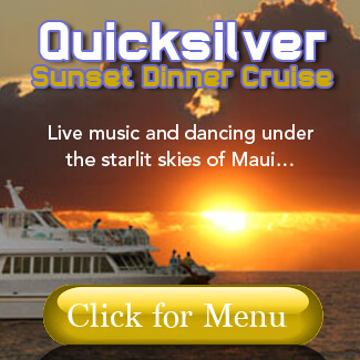 Quicksilver Dinner Cruise Menu