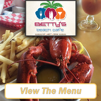 Betty's Beach Cafe Menu